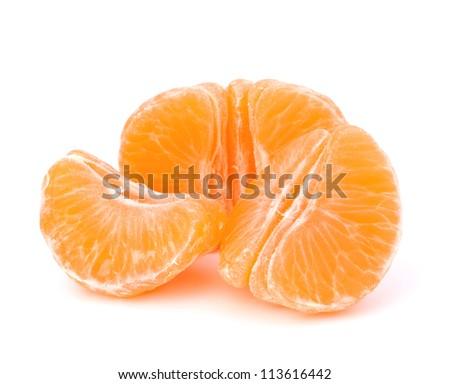 Orange mandarin or tangerine fruit isolated on white background - stock photo