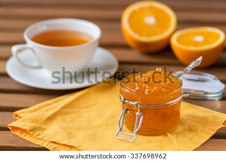orange marmalade - stock photo