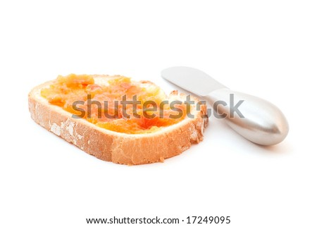 Orange Marmalade on Toast with Blunt Knife