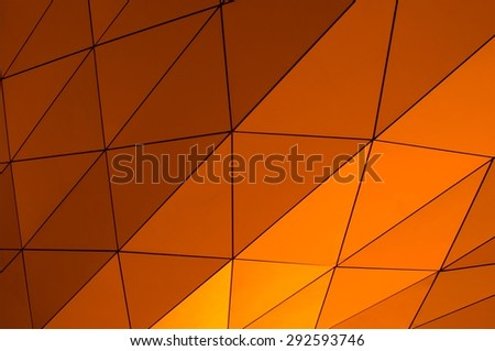 orange metallic surface - stock photo