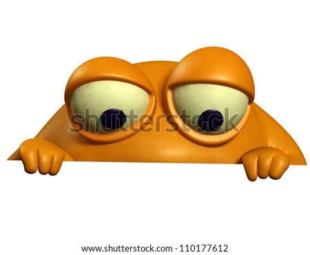 orange monster - stock photo