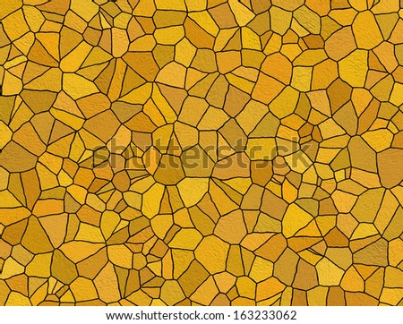 orange mosaic tiles - stock photo