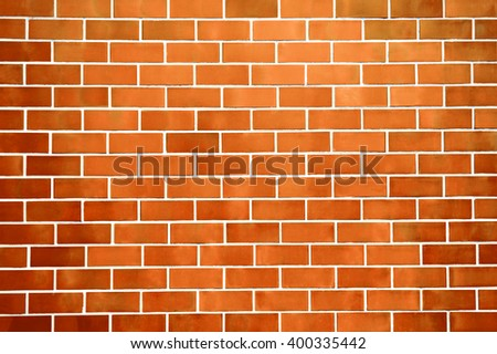 Orange New Brick Wall Pattern Background For Architecture Design Front Or Top View