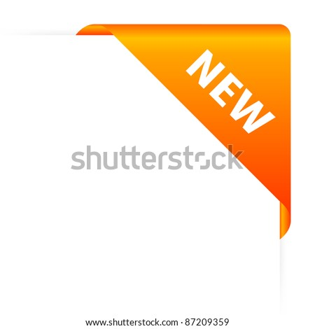 Orange new header - stock photo
