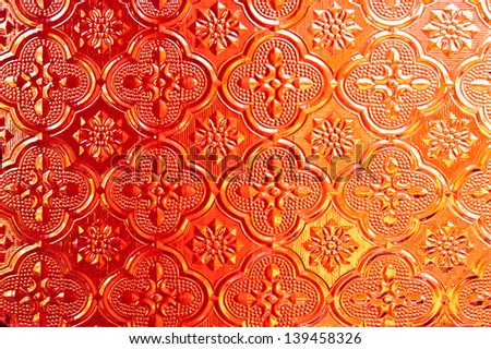 Orange of  Stained glass - stock photo