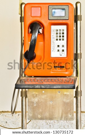 Orange Old Public telephone