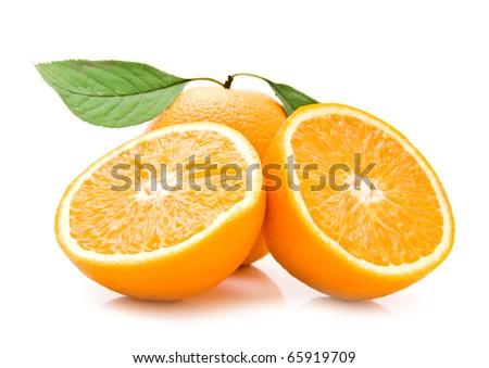 orange on a white background - stock photo