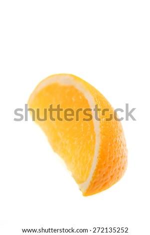 Orange on white background - studio shot - stock photo