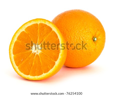orange over white background, picture saved with clipping path - stock photo