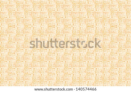 Orange pattern of small woven tree barks