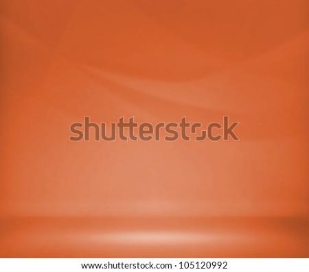 Orange Photo Studio Background - stock photo