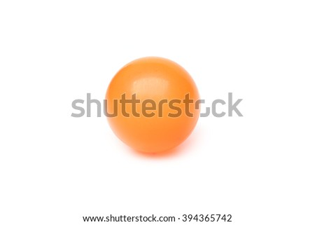 orange plastic ball isolated