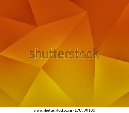 Orange Polygon Backdrop - stock photo