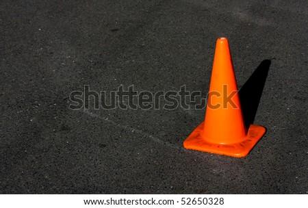 orange road cone - stock photo