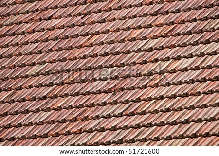 Orange roofing background - stock photo