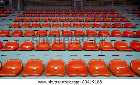 Orange seat - stock photo
