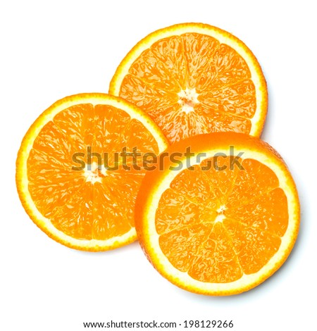 orange slice isolated - stock photo