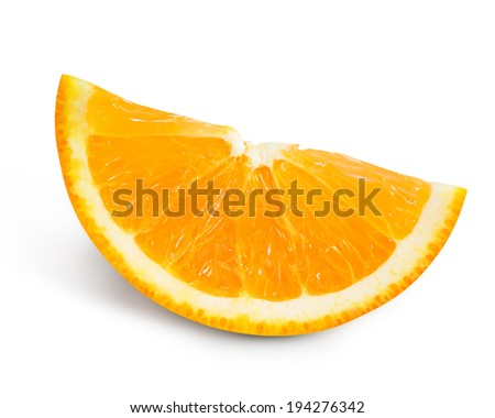 orange slice isolated. Clipping Path  - stock photo