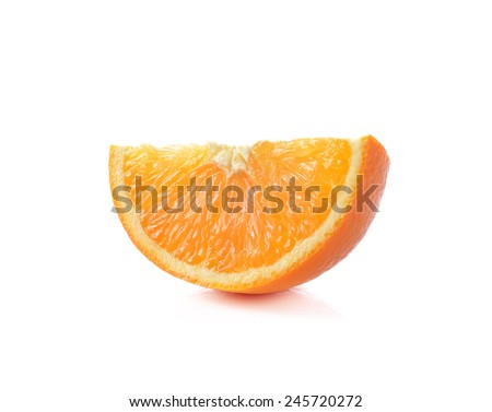 orange slice on white background - stock photo