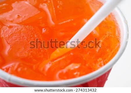 orange soda - stock photo