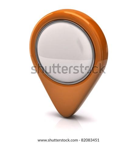 Orange Speech bubble - stock photo