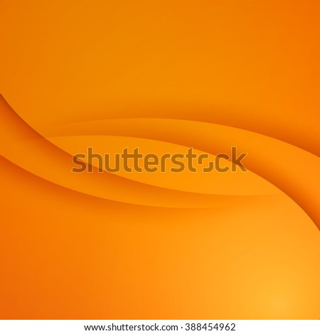 Orange  Template Abstract background with curves lines and shadow. For flyer, brochure, booklet and websites design - stock photo