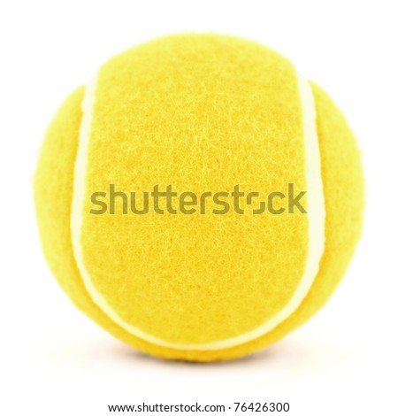 orange tennis ball isolated on white - stock photo