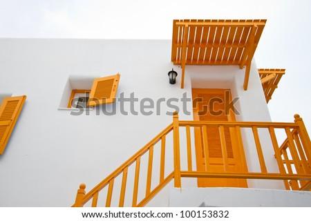 Orange Terrace. - stock photo