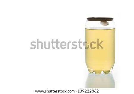 Orange water in Plastic Can - stock photo