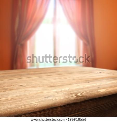 orange window and sunset space  - stock photo