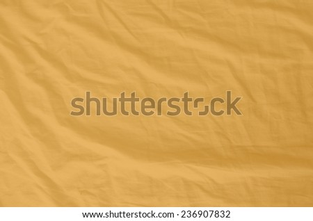 Orange Wrinkled Fabric Texture for back ground