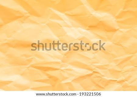 orange wrinkled paper texture backround - stock photo