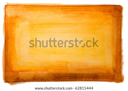 Orange, Yellow and Brown Hand Painted Texture - stock photo