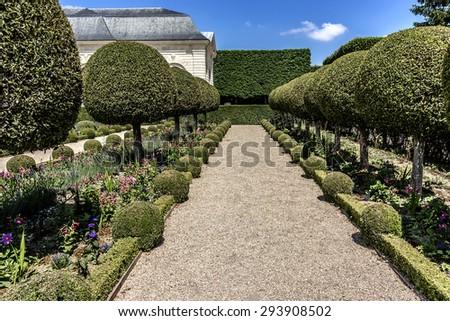 Orangery built in 1686 by Jules Hardouin Mansart in heart of Parc de Sceaux. Chateau de Sceaux - grand country house in Sceaux, Hauts-de-Seine, not far from Paris, France. - stock photo