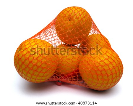 Oranges are in the story packing. Orange objects on a white background.