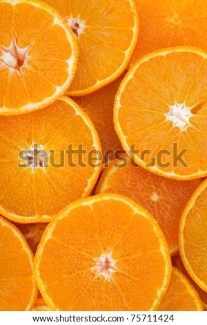 oranges background - stock photo