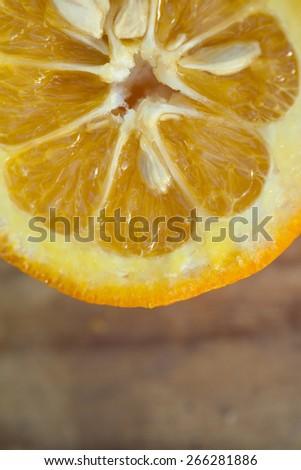 Oranges close-up - stock photo
