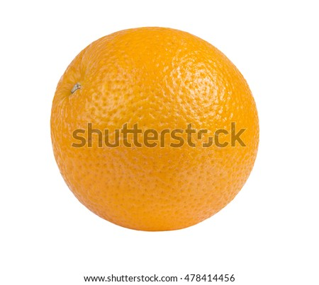 oranges isolated on the white background