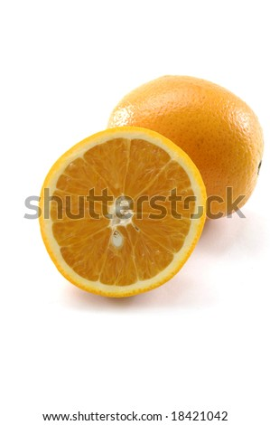 Oranges isolated over white