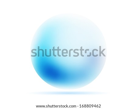 orb sphere  abstract  background with gradients mesh  lines illustration - stock photo