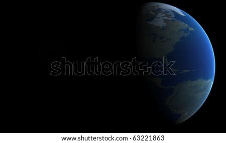 Orbit view - stock photo