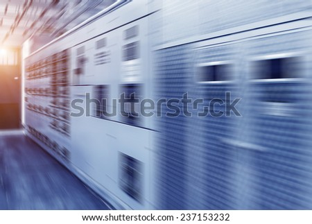 orbital in the Telecommunication room - stock photo