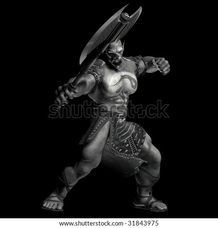 Orc Warrior - stock photo