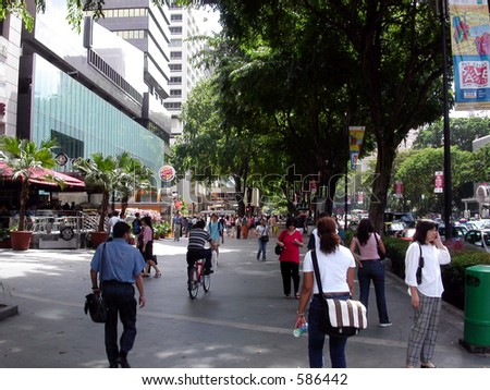 Orchard Road Singapore - stock photo