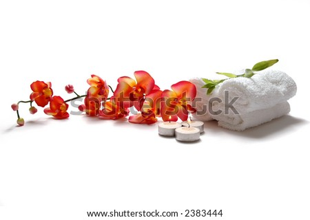 Orchid and Spa - stock photo