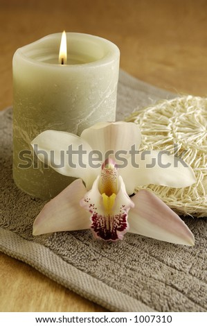 Orchid Spa - stock photo