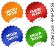 Order now today sticker - stock photo