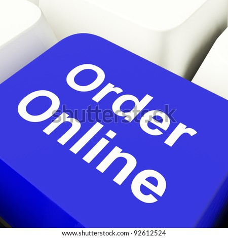 Order Online Computer Key In Blue For Buying On The Internet