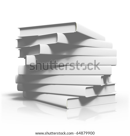 Ordered stack of books with twist
