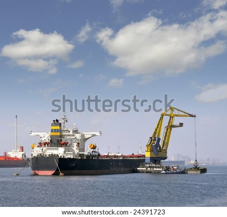 ore carrier - stock photo